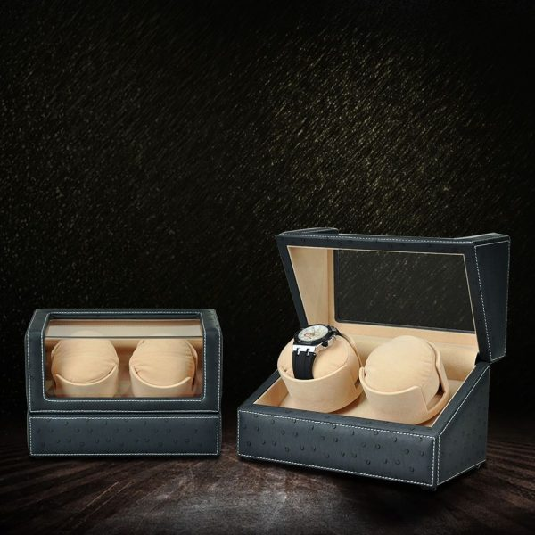 Leather Double Watch Winder